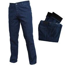Jeans Uomo Tasca America Felpato Classico Vita Alta Invernale Pantalone Regular
