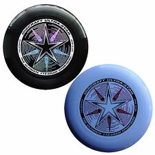 NEW Discraft ULTRA-STAR 175g Ultimate Frisbee Disc (2 Pack) BLACK/LIGHT BLUE