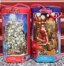 2-SET CHRISTMAS SANTA & TREE 530 PC JIGSAW PUZZLES Northpole Puzzlerz Family NEW