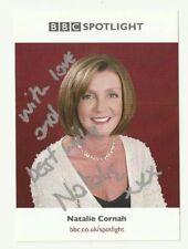 Natalie Cornah BBC Spotlight presenter hand signed photo