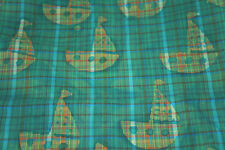 Ships   Batik Cotton Fabric Plaid Green  Print  Free Ship   Bfab