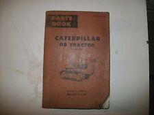CAT CATERPILLAR D8 TRACTOR PARTS BOOK AUGUST 1969 VINTAGE POWER SHIFT