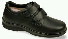 NEW Apex Ambulator Leather Men's Double Strap Shoe Size 11.5WIDE Black FREE SHIP