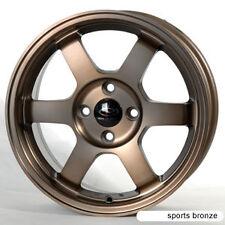 One 16x7 Rota Grid 4x100 +40mm 67.1 Hub Sport Bronze Wheel