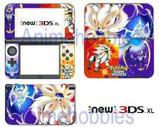 Anime Pokemon Sun/Moon Vinyl Skin Decals Stickers for Nintendo New 3DS XL 2015