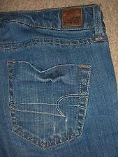 AMERICAN EAGLE True Boot Stretch Blue Denim Jeans Womens Size 4 Short x 30 Mint