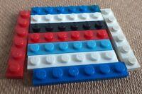 LEGO x 10 Flat Plate 1 x 6 Part 3666 - Genuine Lego Choose Your Colours