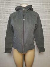 LULULEMON Women's Scuba Hoodie Gray Fleece Lined Sweatshirt Jacket sz 6