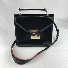 REBECCA MINKOFF Black /Gold GENUINE LEATHER Small Crossbody/Purse