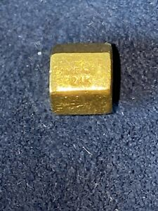 Hex Bolt Charm - 24K - 2.36 Grams - 9999