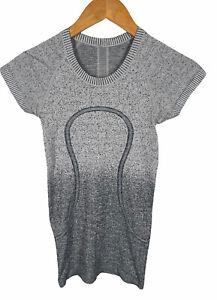 Women's LULULEMON Gray Swiftly Tech Ombre Short Sleeve Tee Size 2