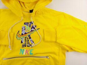 New Kyrie Irving Nike Dri Fit Yellow Hoodie Spongebob DD9012-731 Nets Mens Sz S