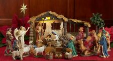 """Three Kings Gifts Nativity 5"""" Full 23 Piece Set w/ Lighted Stable - New - 2018"""