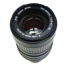 SIGMA AF-MF 100-300mm f/4.5-6.7 Zoom Lens Minolta Mount w/ Lens Hood & UV Filter