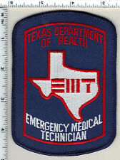 Texas Department of Health E.M.T. Shoulder Patch - new from 1995