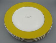 Lenox China Kate Spade RUTHERFORD CIRCLE Yellow Dinner Plates - Set of Four