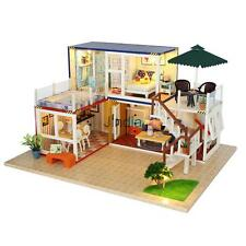 DIY Japanese Style Miniature Doll House Kits w/LED Light Creative Toy Gift