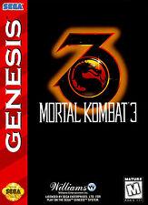 MORTAL KOMBAT 3 SEGA GENESIS incorniciato stampa (Mega Drive Uomo GROTTA immagine grafica del gioco)