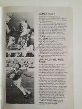 New listing James Hunt handsigned 15th July 1982 at Bisham Abbey - autograph COA