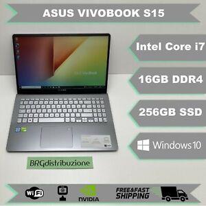 "Notebook ASUS VIVOBOOK S15 15,6"" INTEL i7 8550U 16GB RAM 256GB SSD NVIDIA WEBCAM"