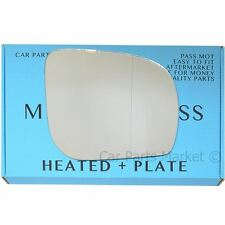 Right side Wide Angle Wing mirror glass for Subaru Forester 11-13 heated + plate