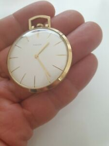 Favor Taschenuhr Handaufzug Vergoldet 1955 (065)