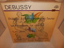 SERGE BAUDO Czech Philharmonic Debussy Les Jeux d'un Faune 1st Rhapsody LP NM