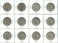 Malaysia 1st Series 20Sen, 50Sen 51Pcs Lot, 1970s-80s, See Description