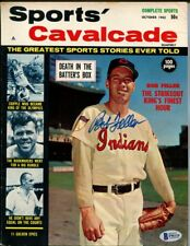 Bob Feller Indians Signed Autographed 1962 Sports' Cavalcade Beckett BAS