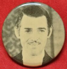 Vintage CLARK GABLE PINBACK BUTTON - Made in Canada