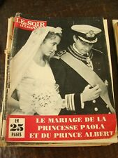 Le Soir Illustré ?/7/1959 - Mariage Paola et Albert en 25 pages