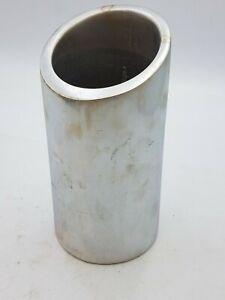 "Nambe 541 Pillar Tilt Single Bottle  Wine Chiller Minimalist Decoration 8-1/2""H"