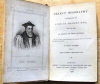 Select Biography, Lives of Eminent Men Vol.1 Hugh Latimer, Bernard Gilpin (1834)