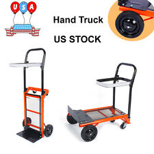 Folding Cart Dolly Pull Luggage Hand Truck Barrow Warehouse Collapsible Trolley