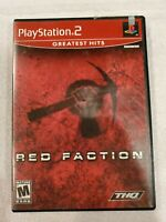 Red Faction Greatest Hits (Sony PlayStation 2, 2002) COMPLETE TESTED FREE S/H