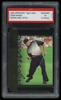 2001 Tiger Woods UD Upper Deck Rookie 1st Graded 10 PGA Masters Golf RC Card #21