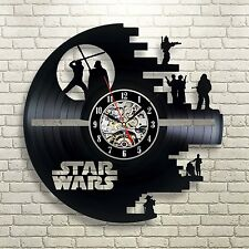Exclusive Star Wars Death Star Vinyl Record Wall Clock 428