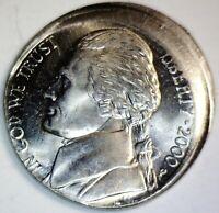 2000 ERROR Jefferson Nickel OFF CENTER CH/GEM BU Coin SUPER NICE O/C LOT #16  NR