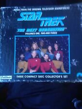 Star Trek Soundtracks Vol. 1,2,3 Collectors Edition. Extremely Rare 3 Pack CD