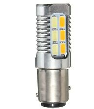 1157 4W 5630 Yellow White LED Dual Color Switchback Turn Signal Light Bulb