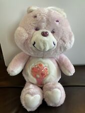 Vintage Kenner 1985 Care Bear - Share Bear with Ice Cream Soda Emblem - 13 in.