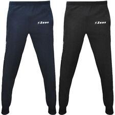 Zeus Enea Fußball Teamwear Herren Kinder Trainingshose Hose blau schwarz neu