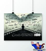 Signiertes Game of Thrones Poster DIN A3 Alle Unterschriften Tyrion, Daenerys...