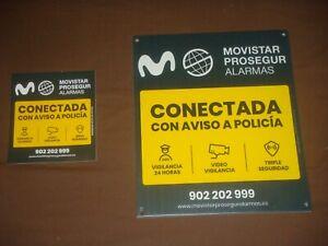 CARTEL DISUASORIO PROSEGUR CON UNAS MEDIDAS DE 30 X 32 CM + 1 PEGATINA. NUEVO.