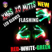 CHRISTMAS XBone RED WHITE GREEN Gloves Rave Burning Wear Man Light Up Show DJ