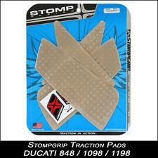 STOMPGRIP Pads de tracción DUCATI 848/1098/1198 Transparente Protector depósito