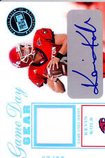 kevin kolb rookie rc draft auto autograph jersey houston cougars college #/25