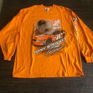 Tony Stewart #20 Winner Circle Mens NASCAR Orange Racing T-Shirt Size XL
