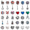 925 European Sterling Pedant Silver Charms Beads for Lot Bracelet Necklace US29