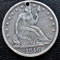 1846 Seated Liberty Half Dollar 50c High Grade XF Det. #20626